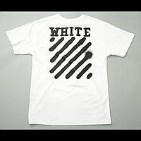 Футболка Off White Spray Paint Label T-Shirt (White)  мужская,женская,детская