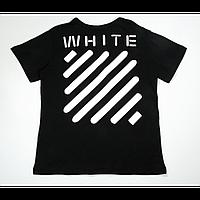 Футболка Off White Stripe Label T-Shirt (Black)  мужская,женская,детская