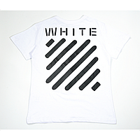 Футболка Off White Stripe Label T-Shirt (White) мужская,женская,детская