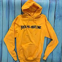 Толстовка Fucking Awesome • Жовта чоловіча і жіноча худі • Оригінальні бірки • Хайповый бренд