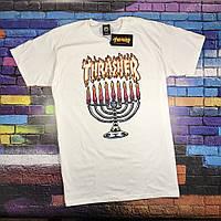 Thrasher футболка белая • Бирка трешер • Отличное фото