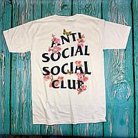 Футболка Anti Social Social Club белая • сакура