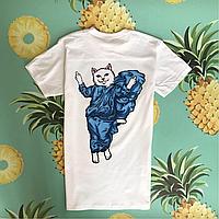 RipNDip . Белая футболка с котиком. Бирки есть.