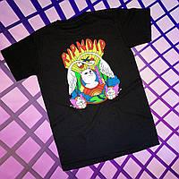 Чёрная футболка RipNDip • Мужская и женская • Бирки ориг