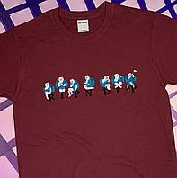 Бордовая футболка RipNDip • Бирки ориг