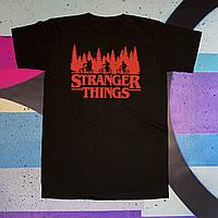 Чёрная футболка Stranger Things