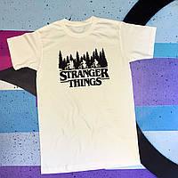 Белая футболка Stranger Things