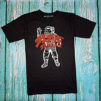 Чёрная футболка BILLIONAIRE • стильная с бирками