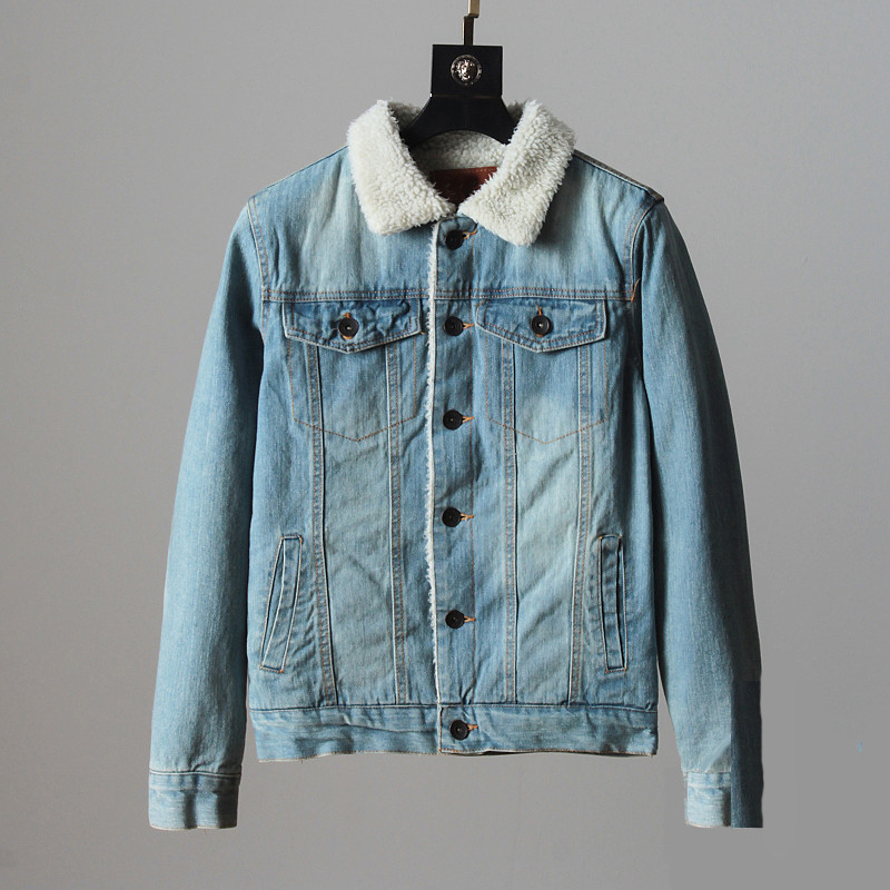 """Куртка чоловіча джинсовий на хутрі """"Allsaints Warrior"""""""