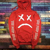 Худи Lil-Peep • Все размеры • Топ качество • Хайповый бренд • красная толстовка M, 48, Весна/осень
