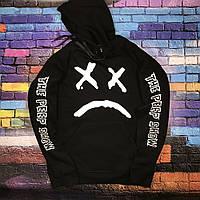 Худи Lil-Peep • Все размеры • Топ качество • Хайповый бренд • чёрная толстовка M, 48, Весна/осень