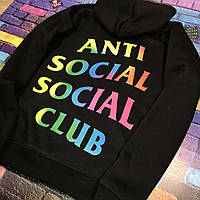 Толстовка Anti Social Social Club rainbow | Худи ASSC | Кенгуру АССЦ M, 48, Весна/осень