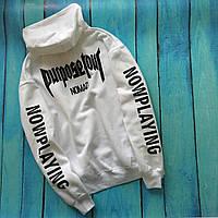 Толстовка белая Purpose The World Tour STAFF Toronto | худи пурпус | кенгурушка стафф M, 48, Весна/осень