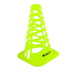 Тренировочный конус с отверстиями SECO 23 см цвет: неон