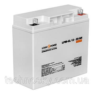 Гелевая аккумуляторная батарея LogicPower LPM-GL 12-20AH