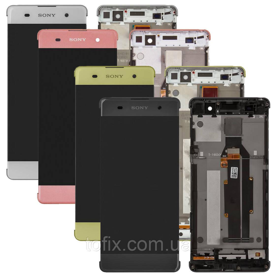 Дисплей для Sony Xperia XA F3111, F3112, F3113, F3115, F3116, модуль (экран и сенсор), с рамкой, оригинал