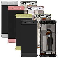Дисплей для Sony Xperia XA F3111, F3112, F3113, F3115, F3116, модуль (экран и сенсор), с рамкой, оригинал, фото 1