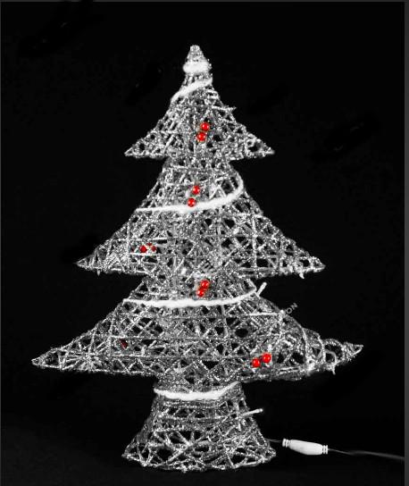 Новогодняя светящаяся Елка - 2, серебряная, 50 см