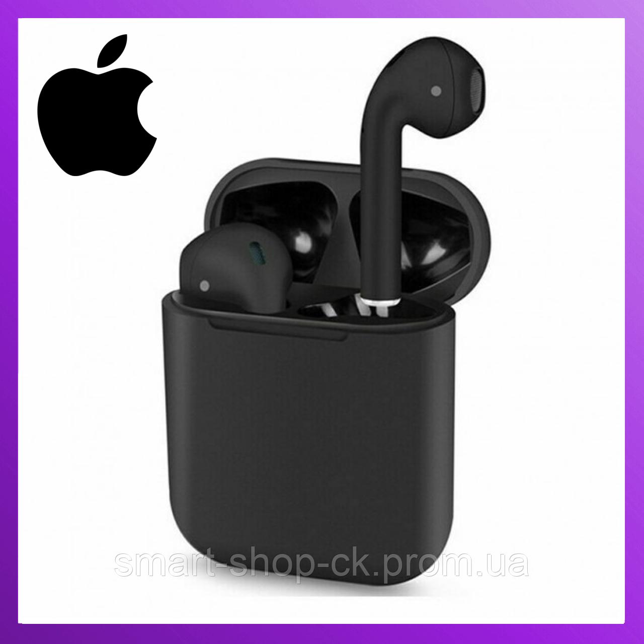 Беспроводные наушники Apple Airpods i120 Black Edition, Блютус наушники Air pods, бездротові навушники Топ 11