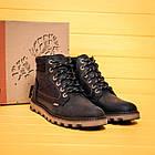 Мужские зимние кожаные ботинки Levis Expensive Black  Мужская зимняя обувь, фото 7