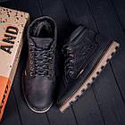 Мужские зимние кожаные ботинки Levis Expensive Black  Мужская зимняя обувь, фото 10