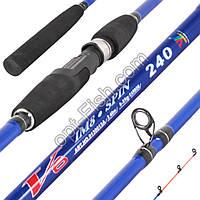 Спиннинговое удилище шт2 Winner blue 0130013A V6 im8 5-25g 2,4м *