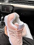 Женские зимние кроссовки New Balance NB 574 на меху PA291 розовые, фото 7