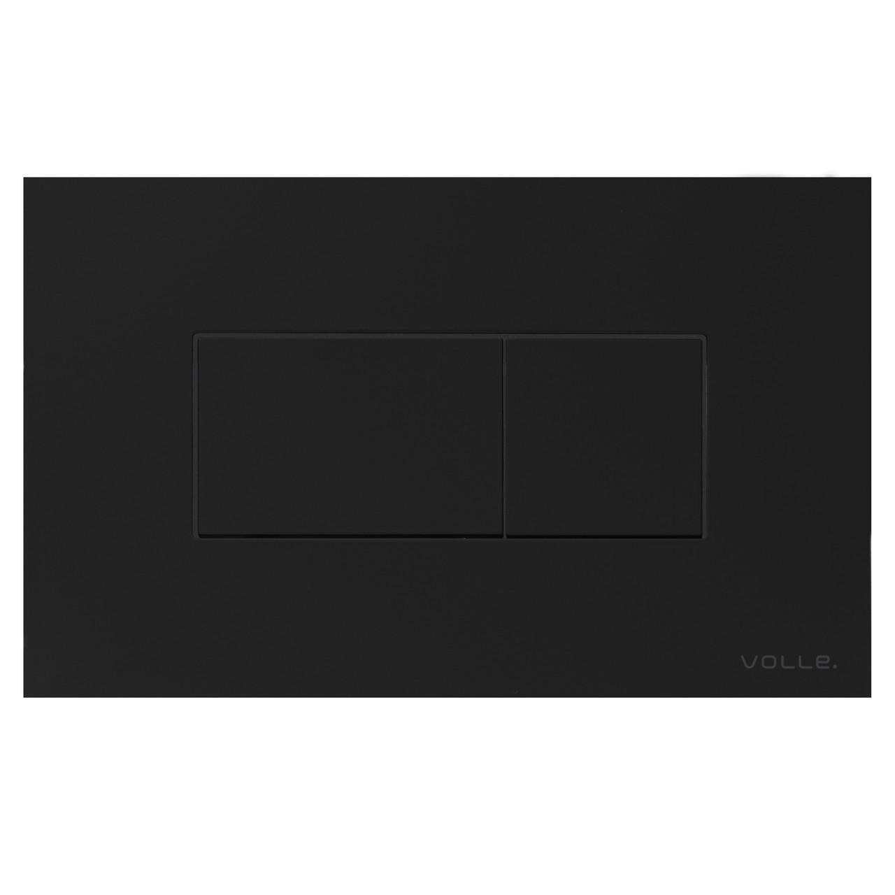 Клавіша змиву ALTO NEO чорна, soft-touch, пластик