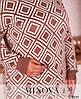 Теплый длинный свитер большого размера, фото 4