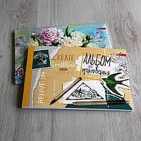 Альбом для малювання 40 арк. клеєний, планшет, А4, СКАТ 160 гр/м2, 30шт/уп