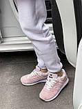 Женские зимние кроссовки New Balance NB 574 на меху PA294 розовые, фото 4