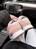 Женские зимние кроссовки New Balance NB 574 на меху PA294 розовые, фото 10