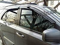 Дефлекторы окон (ветровики) Kia Sorento 2002-2008 (Autoclover/Корея)