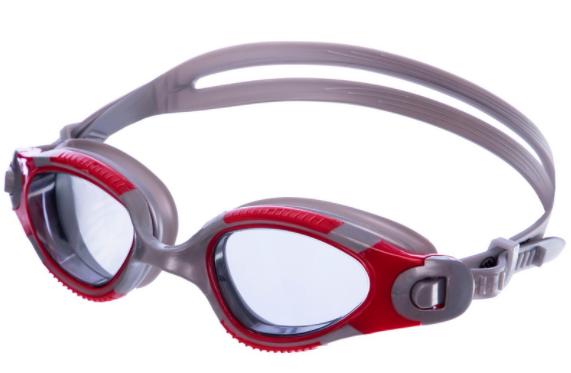 Окуляри для плавання FitGo Сірий з червоним