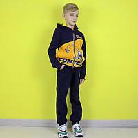 Теплый спортивный костюм для мальчика сине - желтый тм Sincere размер 116,128 см, фото 1
