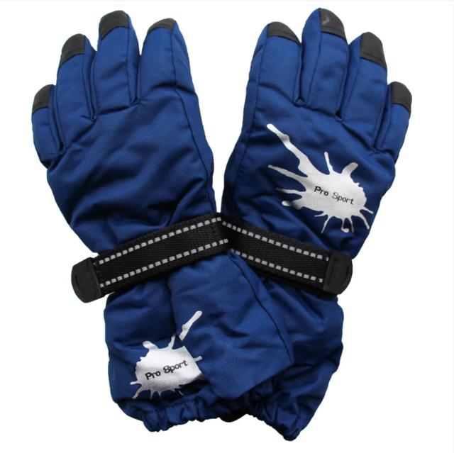 зимние перчатки для мальчика синие краги