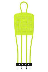 Манекен футбольный для тренировки 175 см цвет: зеленый неон SECO