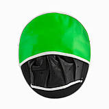 Лапи боксерські PowerPlay 3073 чорно-зелені PU [пара], фото 4