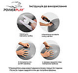 М'яч для фітнесу PowerPlay 4001 75см Срібний + насос, фото 7