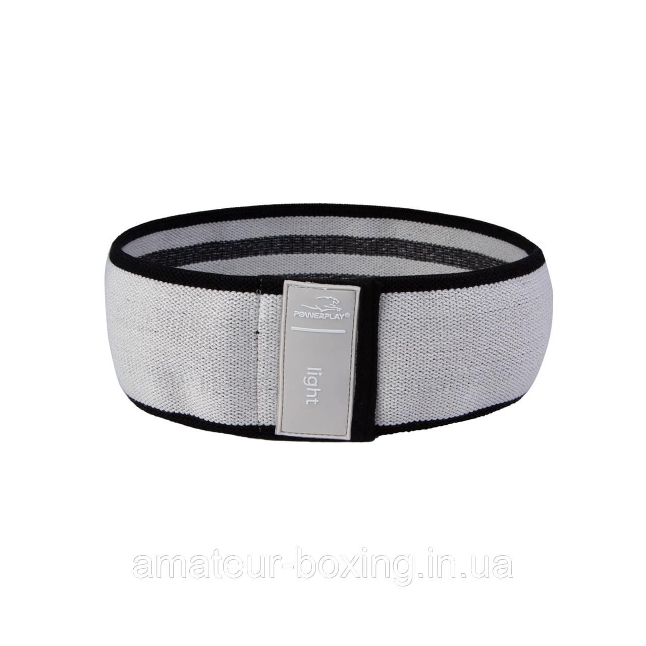 Гумка для фітнеса тканева PowerPlay 4111 S Сірий (d_64cm)