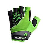 Велорукавички PowerPlay 5281 A Зелені M, фото 2