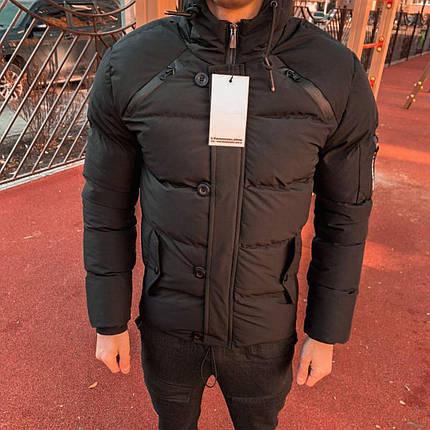 Куртка зимняя мужская черного цвета, фото 2