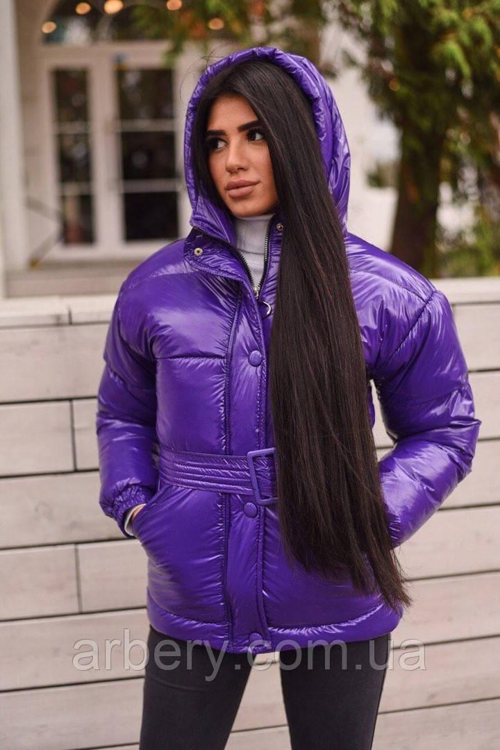 Шикарная зимняя куртка с поясом