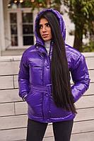 Шикарная зимняя куртка с поясом, фото 1