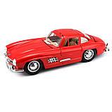 Автомодель Bburago Mercedes-Benz 300 SL 1954 красная 1:24, фото 3
