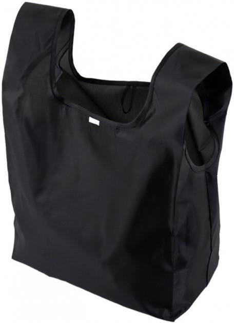 Текстильная сумка-шопер D9107 черная