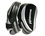 Боксерські Лапи PowerPlay 3050 Чорно-Сірі PU [пара], фото 4