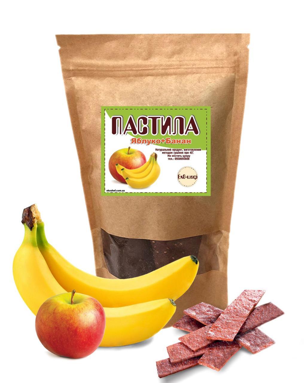 Фруктова пастила з яблук та бананів