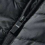 Зимовий жилет Puntos з інфрачервоним підігрівом c USB S Чорний, фото 8