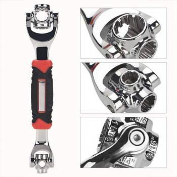 Накидной ключ универсальный сверхпрочный торцевой Universal Tiger Wrench 48-в-1 (111979)